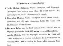 Ethiopian students choose their Olympic Heroes