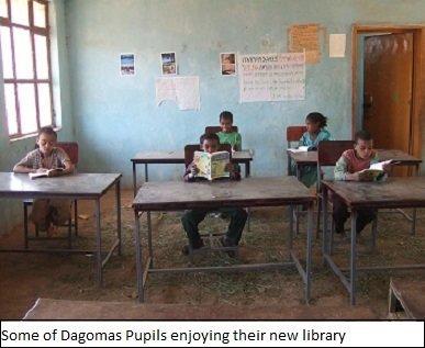 Dagoma Elementary Get Their Books!