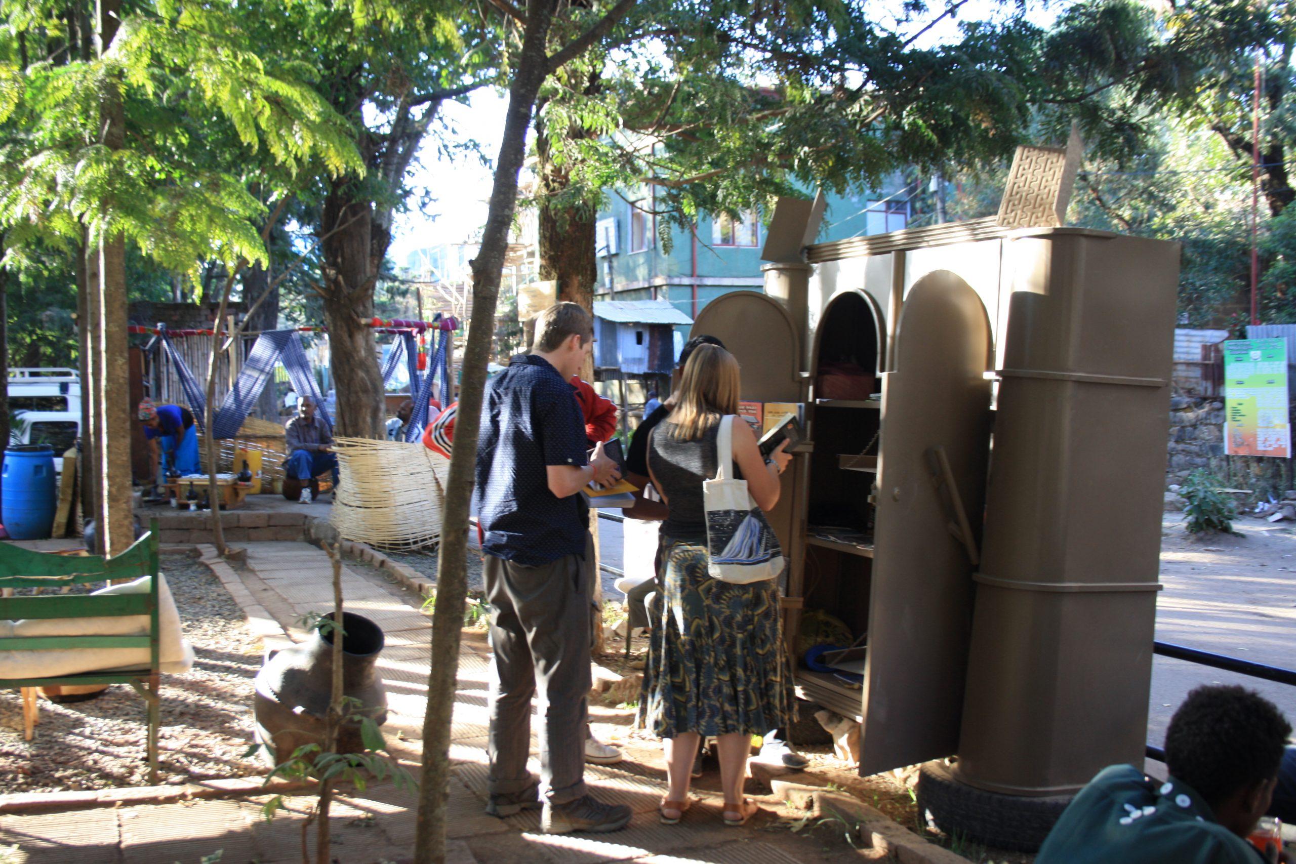 A Gondar university graduate creates outdoor reading space